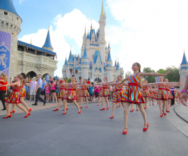 Dancers Performing in Magic Kingdom