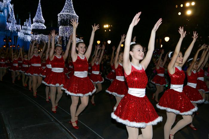 Dancers Performing Down Main Street, U.S.A. at The Walt Disney World Resort