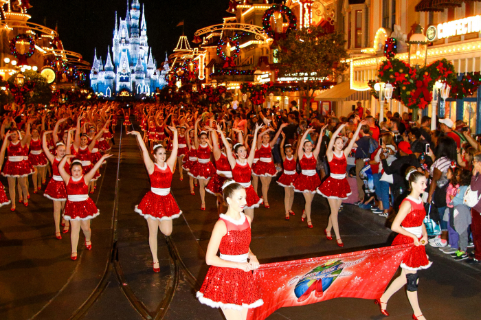 Dancers Performing Down Main Street, U.S.A. at The Walt Disney World Resort