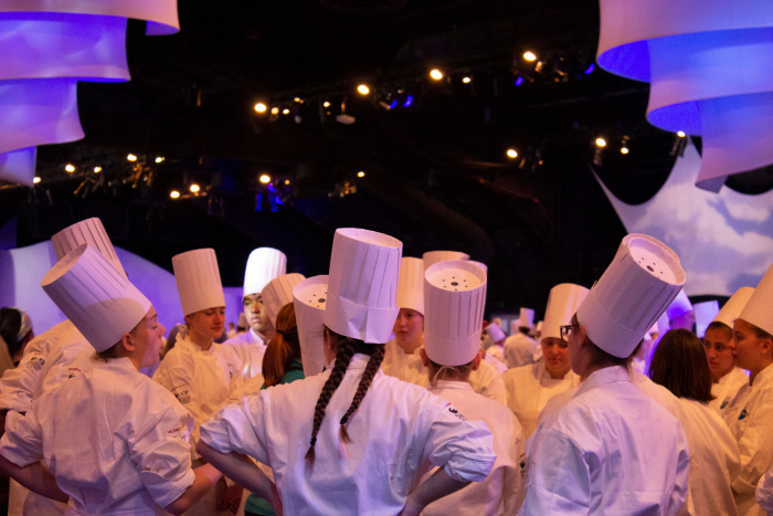 Students at Culinary Competition inside of Epcot