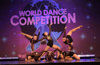 Dancers Posing at World Dance Competition