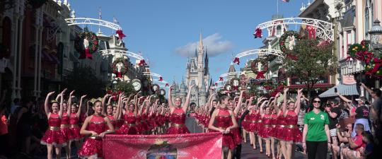 Dancers Performing Down Main Street, U.S.A.
